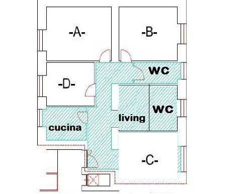 Immagine piantina casa Visone