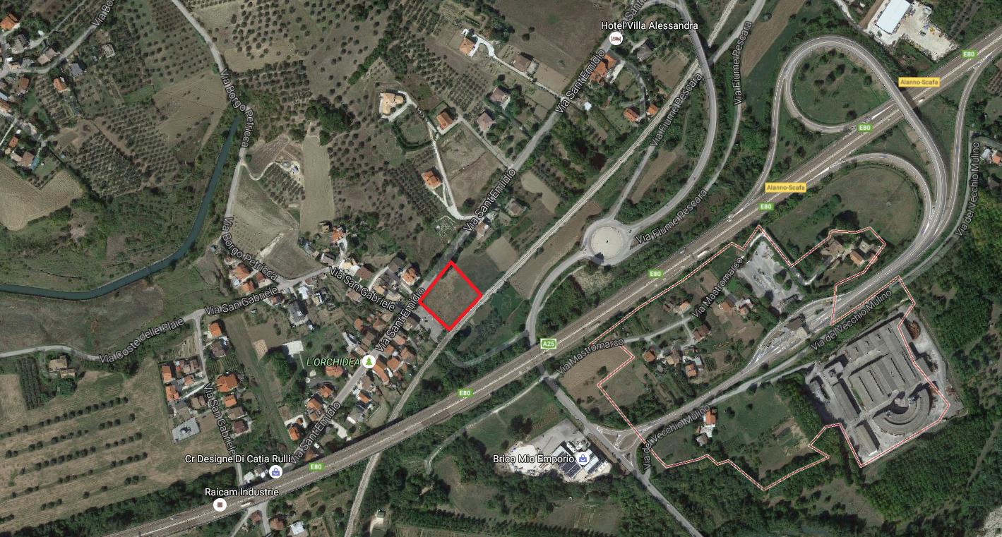 Terreno Edificabile Alanno uscita Autostrada Alanno-Scafa