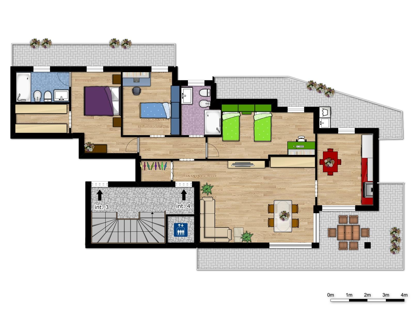 VENDUTO Palazzo MAESTRO interno 4 piano secondo cinque locali