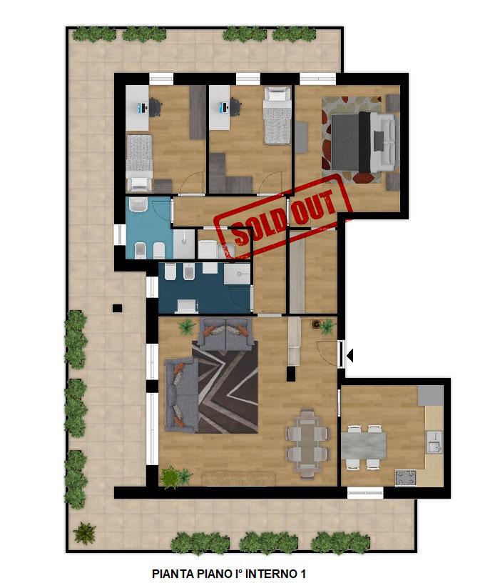 VENDUTO Palazzo LITHOS  appartamento 5 locali